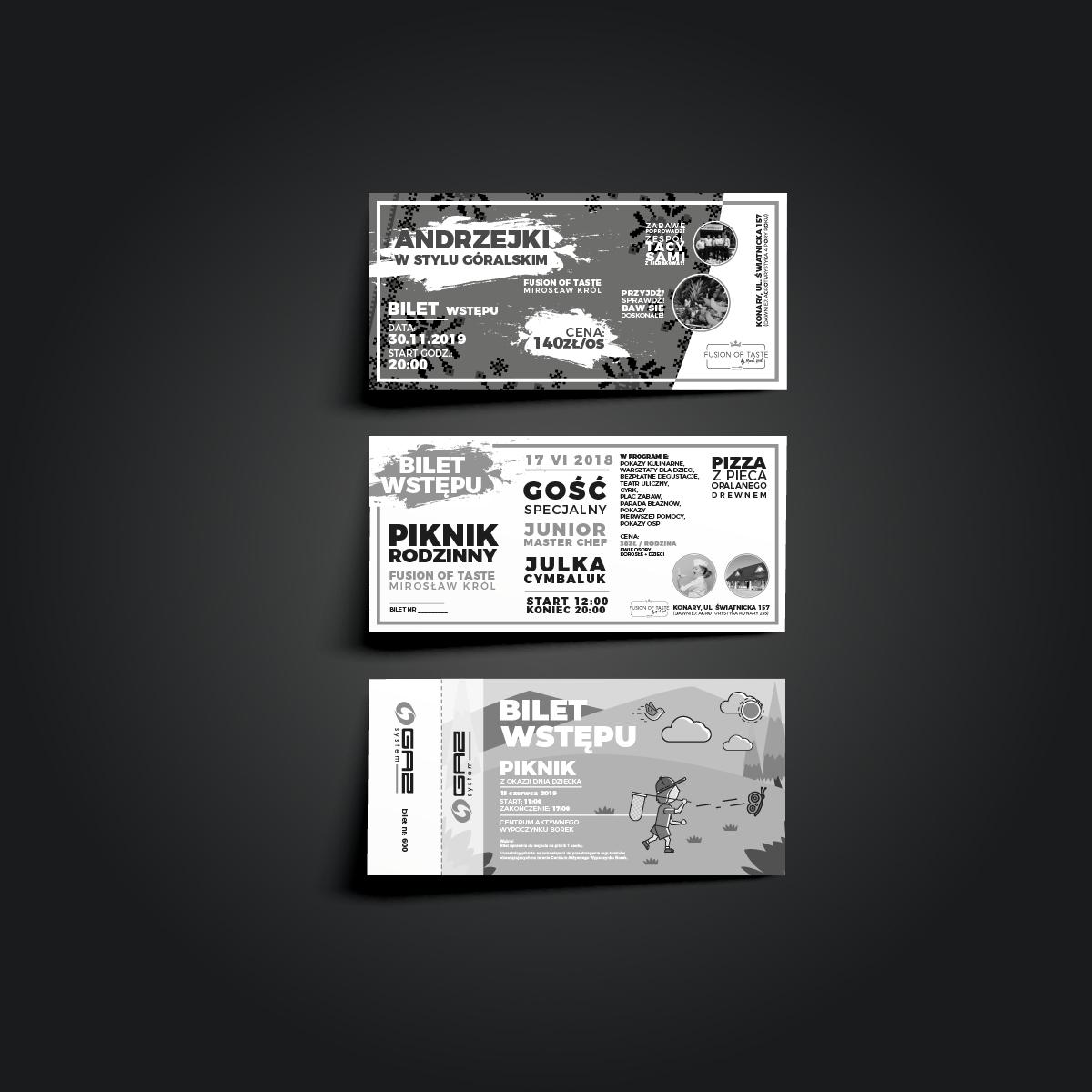 projekty biletów