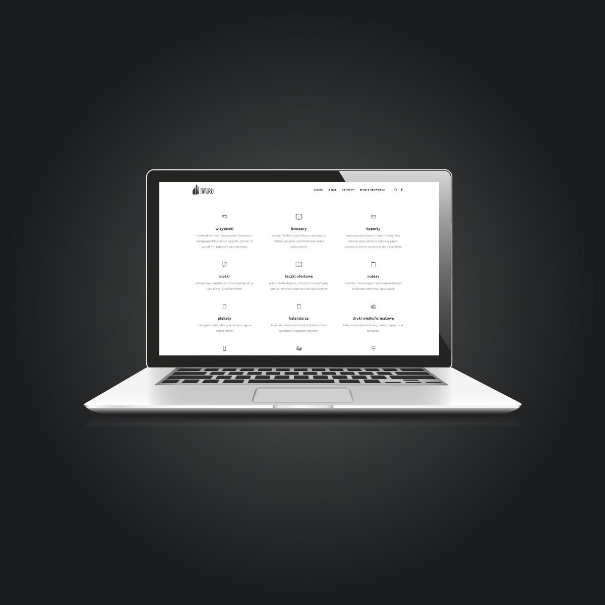 Strona internetowa Manufaktura Druku